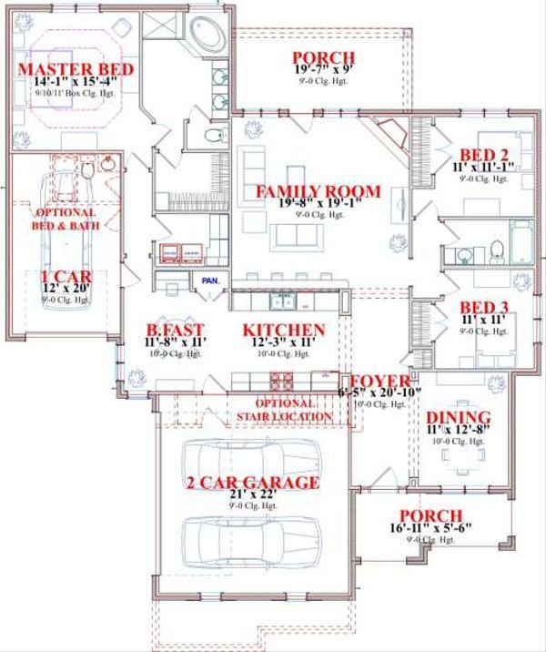 Traditional Floor Plan - Main Floor Plan #63-143