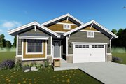 Craftsman Style House Plan - 2 Beds 2 Baths 1378 Sq/Ft Plan #1069-15 Exterior - Front Elevation
