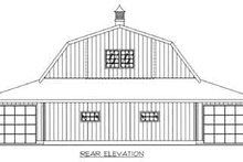 House Plan Design - Country Exterior - Rear Elevation Plan #117-483