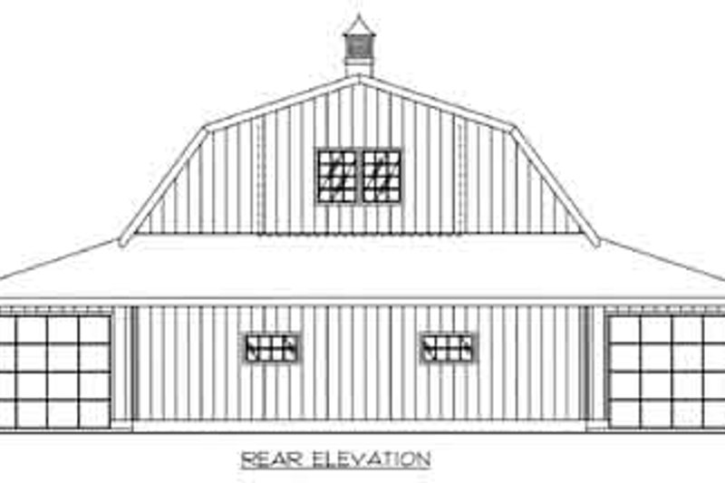 Country Exterior - Rear Elevation Plan #117-483 - Houseplans.com