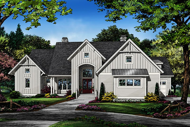 Farmhouse Style House Plan - 4 Beds 4 Baths 2820 Sq/Ft Plan #929-1063 Exterior - Front Elevation