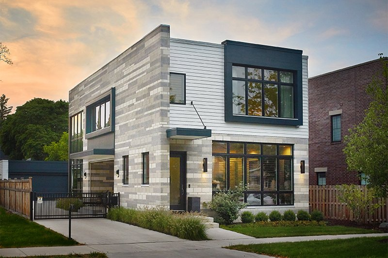 Dream House Plan - Contemporary Exterior - Front Elevation Plan #928-296