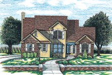Dream House Plan - Traditional Exterior - Front Elevation Plan #20-1006