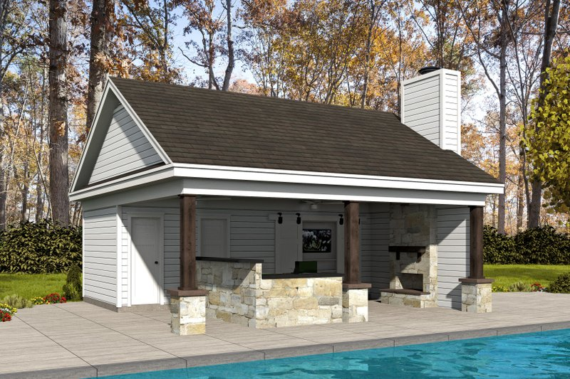 Country Exterior - Front Elevation Plan #932-237