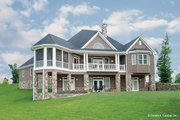 Craftsman Style House Plan - 3 Beds 3.5 Baths 3022 Sq/Ft Plan #929-26 Exterior - Rear Elevation