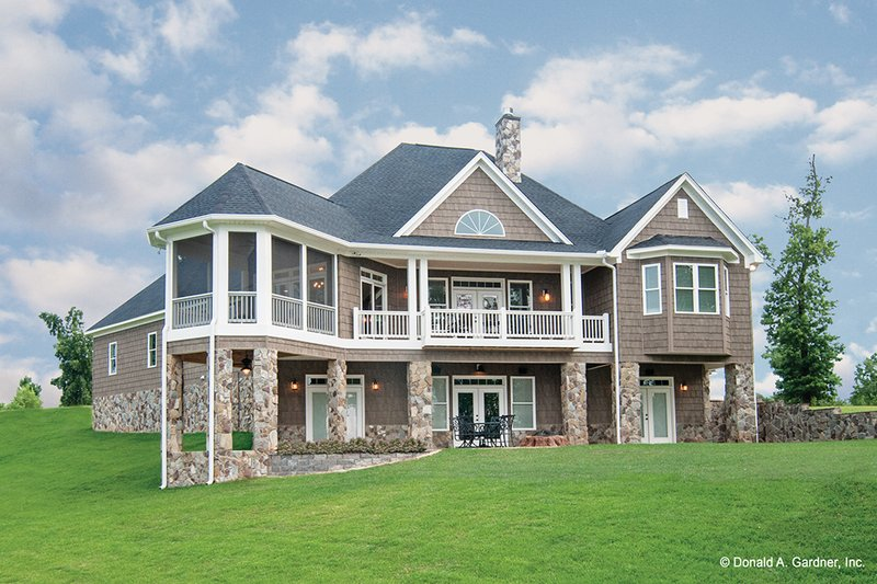 Craftsman Exterior - Rear Elevation Plan #929-26 - Houseplans.com