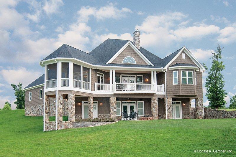Craftsman Exterior - Rear Elevation Plan #929-26 - Houseplans.com