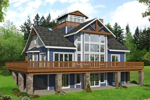 Beach Exterior - Front Elevation Plan #117-896