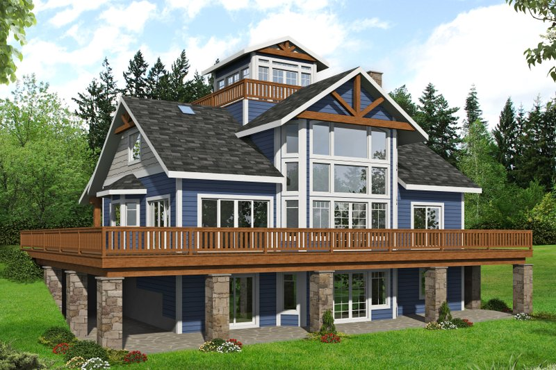 Home Plan - Beach Exterior - Front Elevation Plan #117-896
