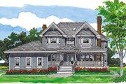 Traditional Style House Plan - 4 Beds 2.5 Baths 2533 Sq/Ft Plan #47-426 Exterior - Front Elevation