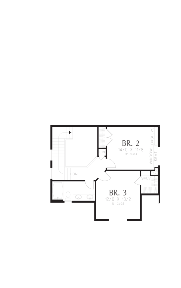 Cottage Floor Plan - Upper Floor Plan Plan #48-575