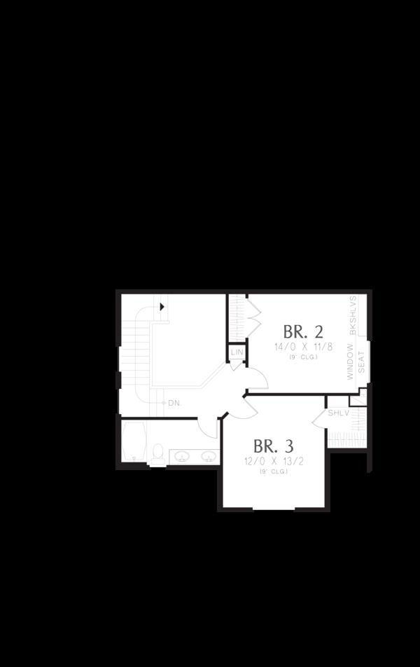 Cottage Floor Plan - Upper Floor Plan Plan #48-575