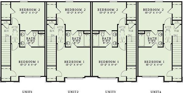 Traditional Floor Plan - Upper Floor Plan Plan #17-2466