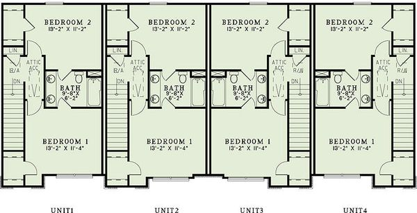 Traditional Floor Plan - Upper Floor Plan #17-2466
