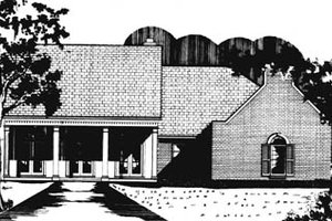 Southern Exterior - Front Elevation Plan #15-121
