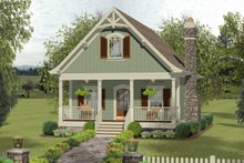 Architectural House Design - Craftsman Exterior - Front Elevation Plan #56-721