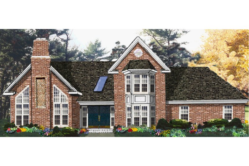 Architectural House Design - Traditional Exterior - Front Elevation Plan #3-338
