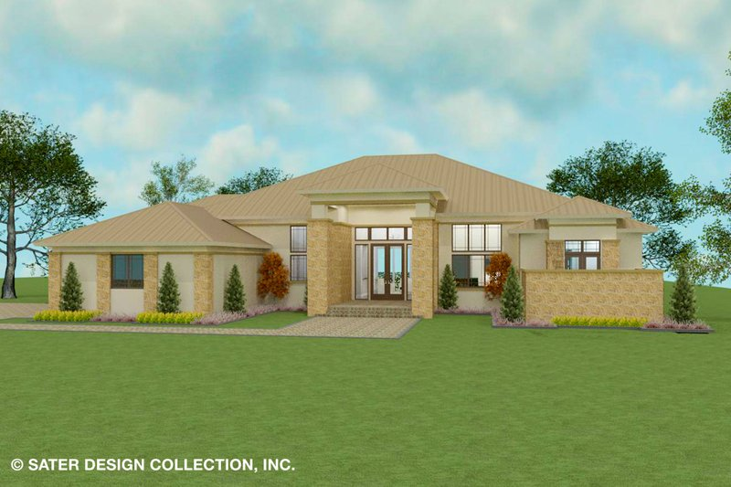 Dream House Plan - Modern Exterior - Front Elevation Plan #930-518