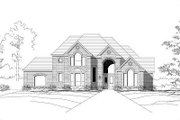 European Style House Plan - 4 Beds 2.5 Baths 3391 Sq/Ft Plan #411-562 Exterior - Front Elevation