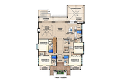 Beach Style House Plan - 5 Beds 5.5 Baths 9075 Sq/Ft Plan #27-456 Floor Plan - Upper Floor Plan