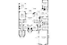 Mediterranean Floor Plan - Main Floor Plan Plan #930-13