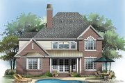 Traditional Style House Plan - 4 Beds 3.5 Baths 2506 Sq/Ft Plan #929-45 Exterior - Rear Elevation