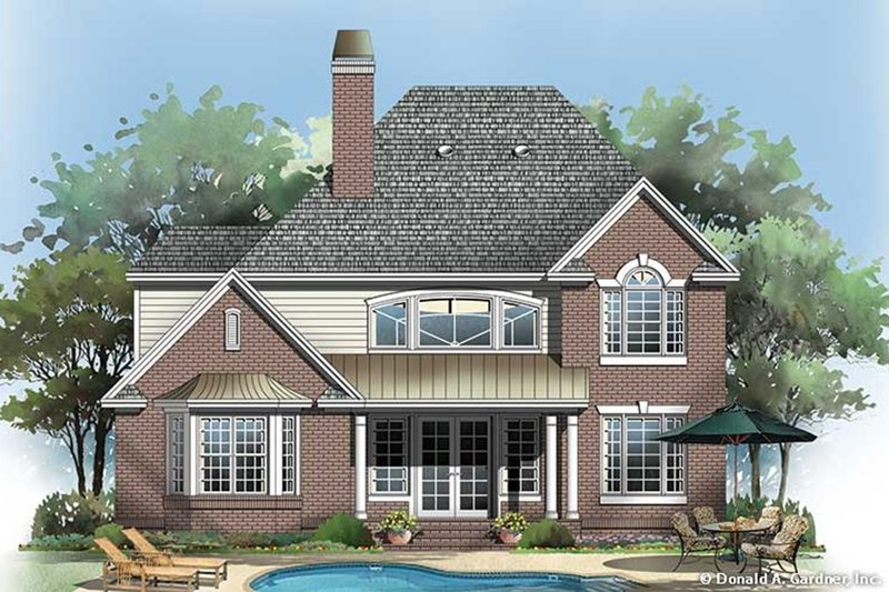 Traditional Exterior - Rear Elevation Plan #929-45 - Houseplans.com