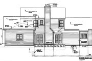 Southern Style House Plan - 5 Beds 2.5 Baths 2401 Sq/Ft Plan #3-199 Exterior - Rear Elevation