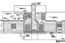 Southern Exterior - Rear Elevation Plan #3-199