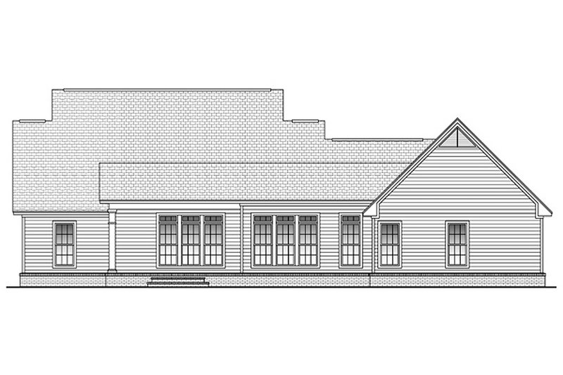 Country Exterior - Rear Elevation Plan #430-45 - Houseplans.com