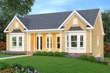 Country Exterior - Front Elevation Plan #419-155