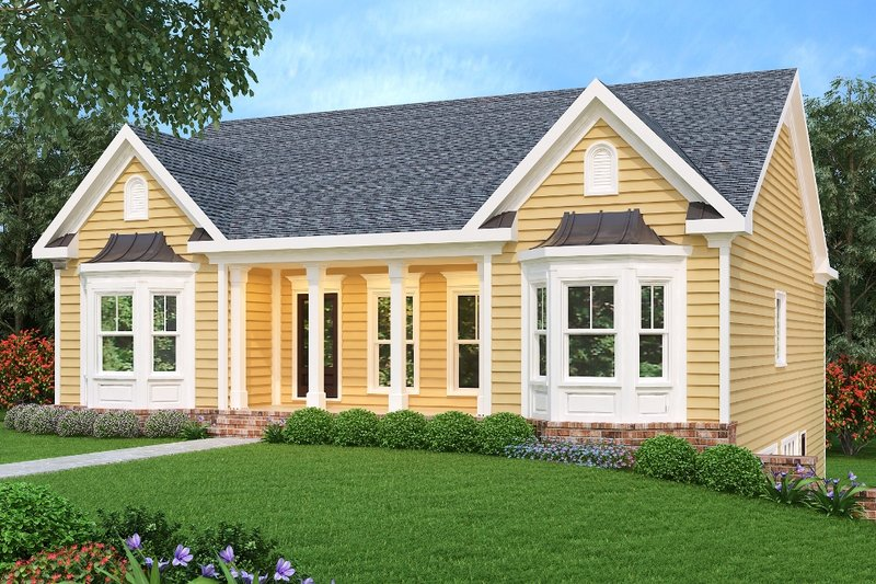 Country Exterior - Front Elevation Plan #419-155 - Houseplans.com