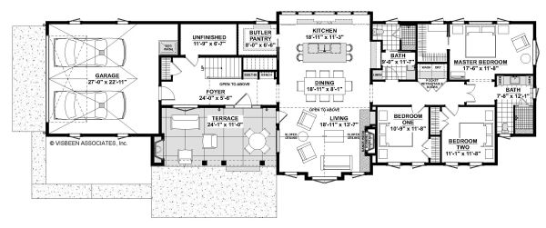 Architectural House Design - Contemporary Floor Plan - Main Floor Plan #928-326