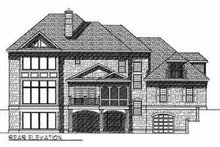 Southern Exterior - Rear Elevation Plan #70-552