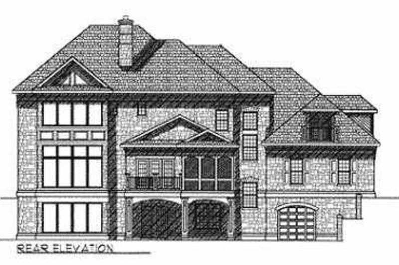 Southern Exterior - Rear Elevation Plan #70-552 - Houseplans.com