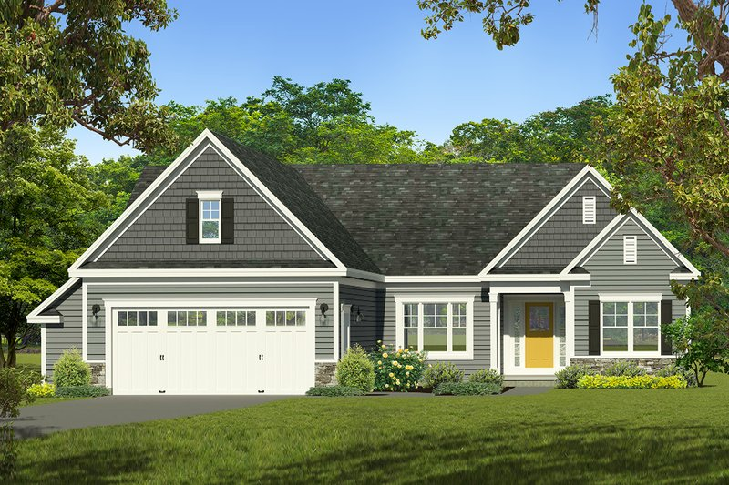 Ranch Exterior - Front Elevation Plan #1010-237