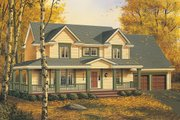 Farmhouse Style House Plan - 3 Beds 2.5 Baths 2208 Sq/Ft Plan #48-134 Exterior - Front Elevation