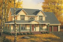 Dream House Plan - Front View - 2200 square foot Country home