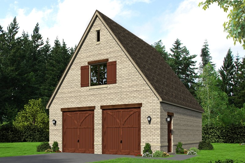Country Exterior - Front Elevation Plan #932-271