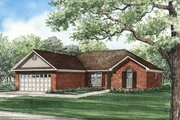 Traditional Style House Plan - 3 Beds 2 Baths 1381 Sq/Ft Plan #17-104 Exterior - Front Elevation
