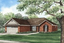 Architectural House Design - Traditional Exterior - Front Elevation Plan #17-104