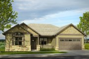 Ranch Style House Plan - 3 Beds 2 Baths 1888 Sq/Ft Plan #124-1001 Exterior - Front Elevation