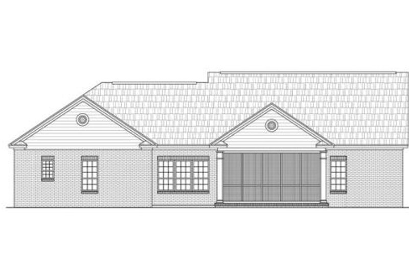 Traditional Exterior - Rear Elevation Plan #21-236 - Houseplans.com