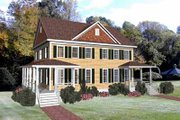 Colonial Style House Plan - 3 Beds 2.5 Baths 3212 Sq/Ft Plan #79-250 Exterior - Front Elevation