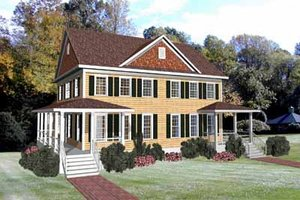 Colonial Exterior - Front Elevation Plan #79-250