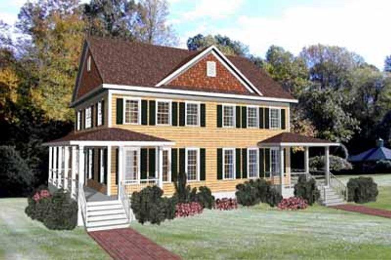 Colonial Exterior - Front Elevation Plan #79-250 - Houseplans.com