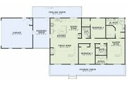 Country Style House Plan - 3 Beds 2 Baths 1800 Sq/Ft Plan #17-2612 Floor Plan - Main Floor Plan