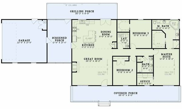 Country Floor Plan - Main Floor Plan Plan #17-2612