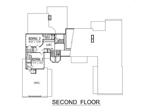 Traditional Floor Plan - Upper Floor Plan Plan #458-1