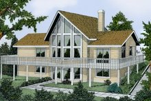 Architectural House Design - Contemporary Exterior - Front Elevation Plan #92-201
